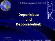 Hähnelstraße 13 - D-12159 Berlin - BHR Ingenieur GmbH