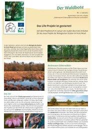 Der Waldbote - Biologische Station im Kreis Wesel e.V. (BSKW)
