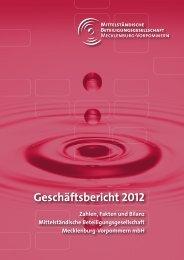 MBMV Geschäftsbericht 2012 - Bürgschaftsbank Mecklenburg ...