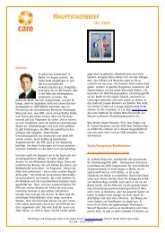 Hauptstadtbrief III/2009 - CARE Deutschland e.V.