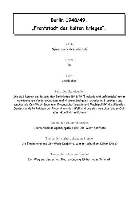 """""""Frontstadt des Kalten Krieges"""". - CARE Deutschland e.V."""
