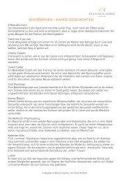 biographien / wahre geschichten - CA COACHINGAcademie GmbH