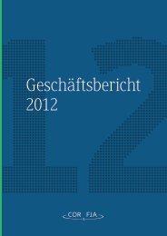 Geschäftsbericht 2012 der COR&FJA AG