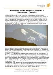 Kilimanjaro – Lake Manyare - Serengeti ... - Devendra-Reisen