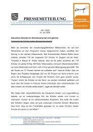 PRESSEMITTEILUNG - Deutsche Kinder und Jugendstiftung