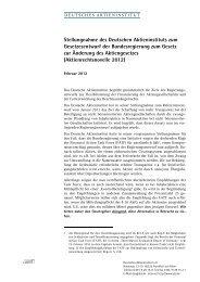 Aktienrechtsnovelle 2012 - Deutsches Aktieninstitut