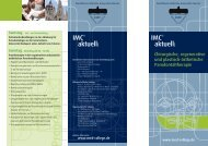 IMC® IMC® aktuell: aktuell: - International Medical College IMC