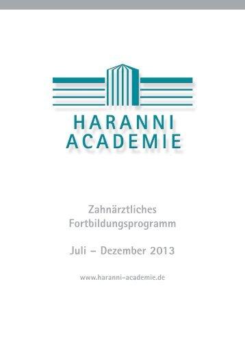 Fortbildung Programmheft 2. Halbjahr 2013 - Dr. Hinz Unternehmen
