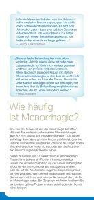Beeinträchtigen starke Monatsblutungen Ihr Leben? - Hologic - Page 6
