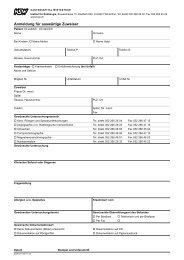 Formular für Zuweiser - im Kantonsspital Winterthur