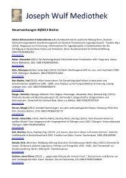 Neuerwerbungen 02/2013 Bücher - Gedenkstätte Haus der ...