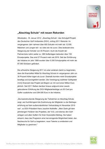 """""""Abschlag Schule"""" mit neuen Rekorden - Golf.de"""
