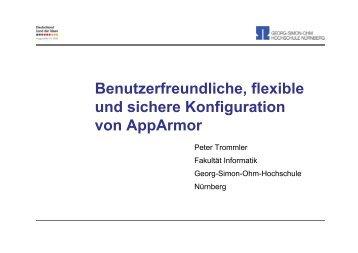 Benutzerfreundliche, flexible und sichere Konfiguration von ... - GUUG