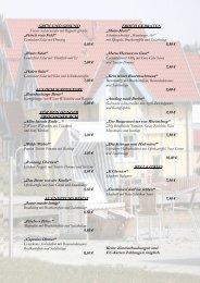 finden Sie unsere neue Speisekarte - Hafendorf Rheinsberg