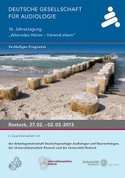 Deutsche Gesellschaft für auDioloGie - Hno.med.uni-rostock.de ...