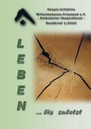 Ausgabe 1/2010 - Hospiz-Initiative