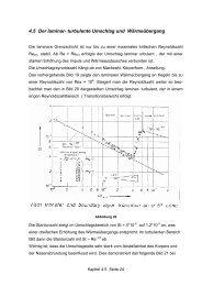4.5 Der laminar- turbulente Umschlag und Wärmeübergang