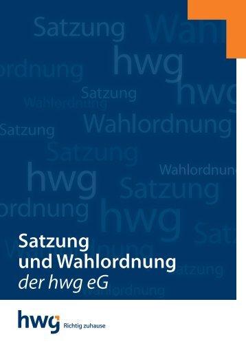 Satzung und Wahl ordnung der hwg eG