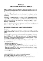 Merkblatt zu Fehlzeiten bei der Förderung - Investitionsbank ...