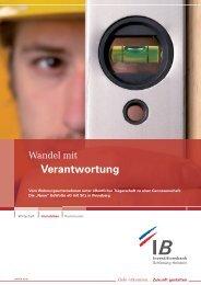 Wandel mit Verantwortung - Investitionsbank Schleswig-Holstein