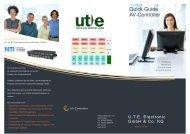 Quick Guide AV-Controller - U.T.E. Electronic