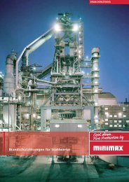 """""""Brandschutzlösungen für Stahlwerke"""" als Download (PDF) - Minimax"""