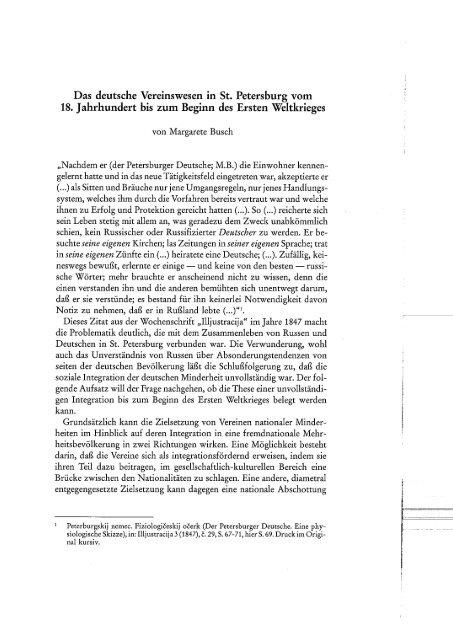 Das deutsche Vereinswesen in St. Petersburg vom 18. Jahrhundert ...
