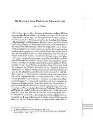 Die Rezeption Ernst Wiecherts in Polen nach 1945