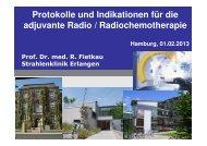 Protokolle und Indikationen für die adjuvante Radio ...
