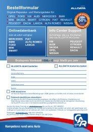 Bestellformular mit AGB - CAR GmbH