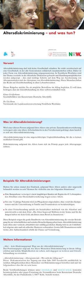 Altersdiskriminierung – und was tun? - Kuratorium Deutsche Altershilfe
