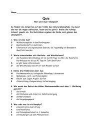 Quiz zum Naturerlebnispfad