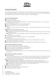 Checkliste Umzug - VPV