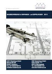 KSW Baubeschreibung April 2013 - KSW MASSIVHAUS