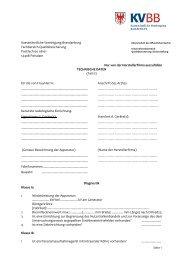 5 Technische Daten - Kassenärztliche Vereinigung Brandenburg