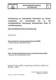 Arzneimittelinformations-Vereinbarung - Kassenärztliche ...