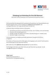 Einladung zum Workshop für Ihre EDV Betreuer - Kassenärztliche ...