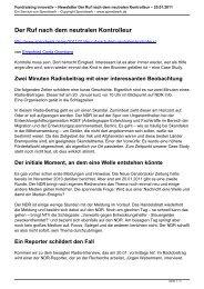 Newsletter Der Ruf nach dem neutralen Kontrolleur - Spendwerk