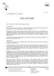 B.A.Bar in der Fruehfoerderung - ein Bericht ueber Sarah - FST