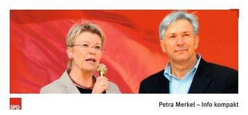 "Informationsbroschüre ""Petra Merkel - Info kompakt"""