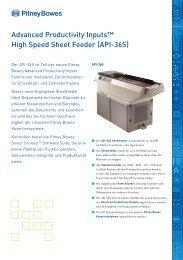 Produktbroschüre (PDF) - Pitney Bowes