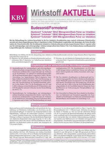 Wirkstoff aktuell: Budesonid / Formoterol