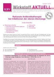 Therapie bei Infektionen der oberen Atemwege