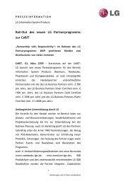 LG Partnerprogramm - LG Electronics