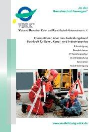 Fachkraft für Rohr-, Kanal und Industrieservice - VDRK