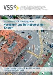 Verkehrs- und betriebstechnik – knoten - VSS