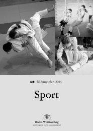 Bildungsplan -Sport - LIS-IN-BW