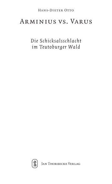 Arminius vs. Varus - Jan Thorbecke Verlag