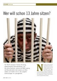10/2009 Wer will schon 13 Jahre sitzen? - MMV Leasing