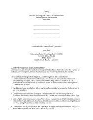 I. Anforderungen an den Lizenznehmer - Nabu